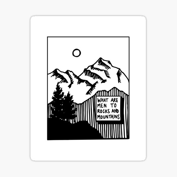 Rocks & Mountains Sticker