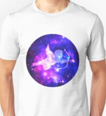 Happy Space Cupid Love Theme Unisex T-Shirt