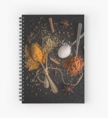 Various spices spoons Spiral Notebook