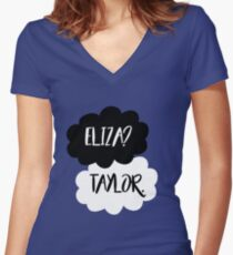 Eliza? Taylor. Women's Fitted V-Neck T-Shirt
