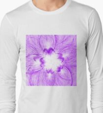 Violet Flower on white Long Sleeve T-Shirt