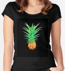 Funky Fractal Pineapple Women's Fitted Scoop T-Shirt