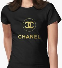 chanel logo Womens Fitted T-Shirt