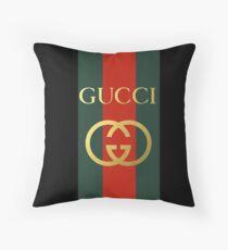 gucci logo Throw Pillow