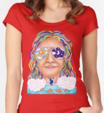 Day and Night Psychedelic Collide Women's Fitted Scoop T-Shirt