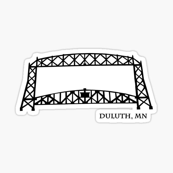 Duluth, MN Aerial Lift Bridge Sticker
