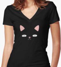 Hidden cat Women's Fitted V-Neck T-Shirt