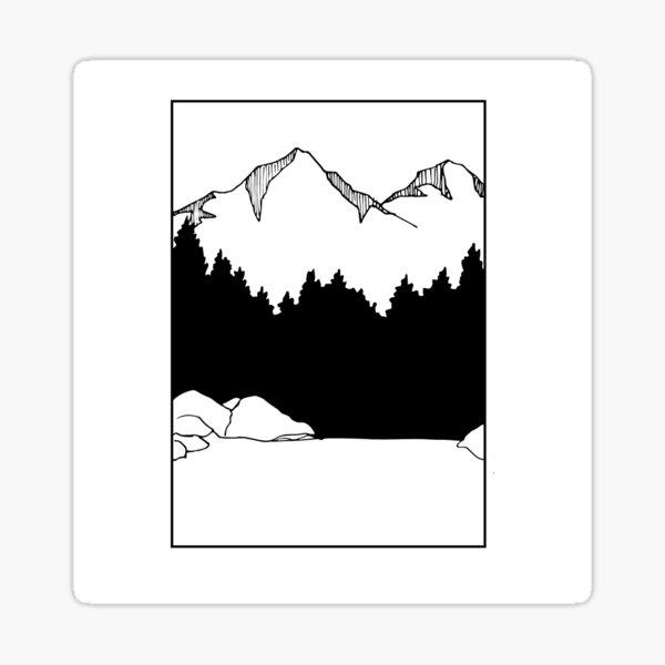 Mountain with a Lake Sticker