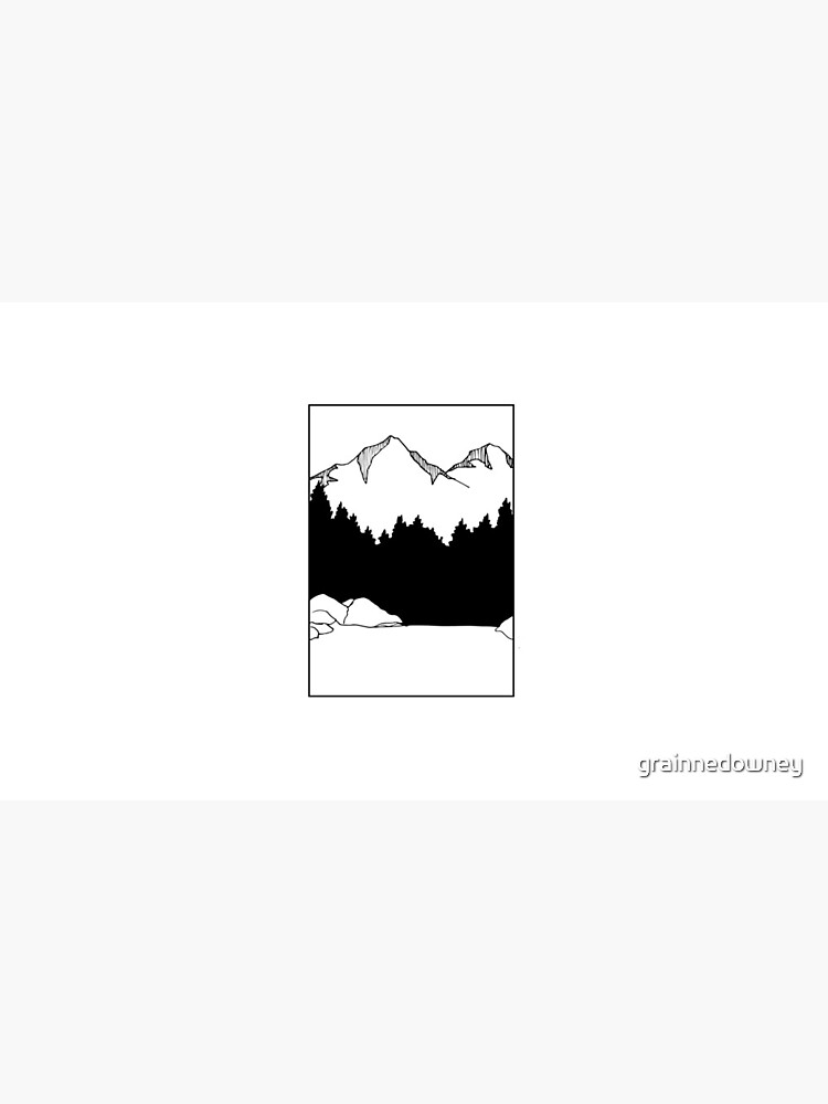 Mountain with a Lake by grainnedowney