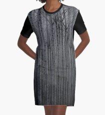 Forest Illusions-Poplar Winter Graphic T-Shirt Dress