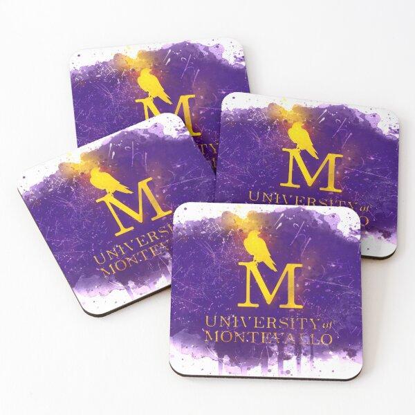 University of Montevallo Rustic Watercolor Logo Coasters (Set of 4)