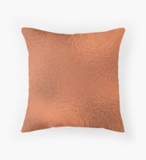 Simply Metallic in Deep Copper Bronze Solid Throw Pillow