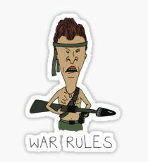 """Beavis & Butthead - """"War Rules"""" Rambo Design Sticker"""