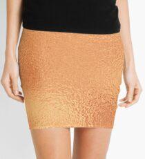 Simply Metallic in Deep Bronze Copper Solid Mini Skirt