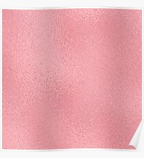 Simply Pink Rose Gold Metallic Solid Poster