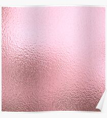 Simply Blush Rose Gold Metallic Solid Poster