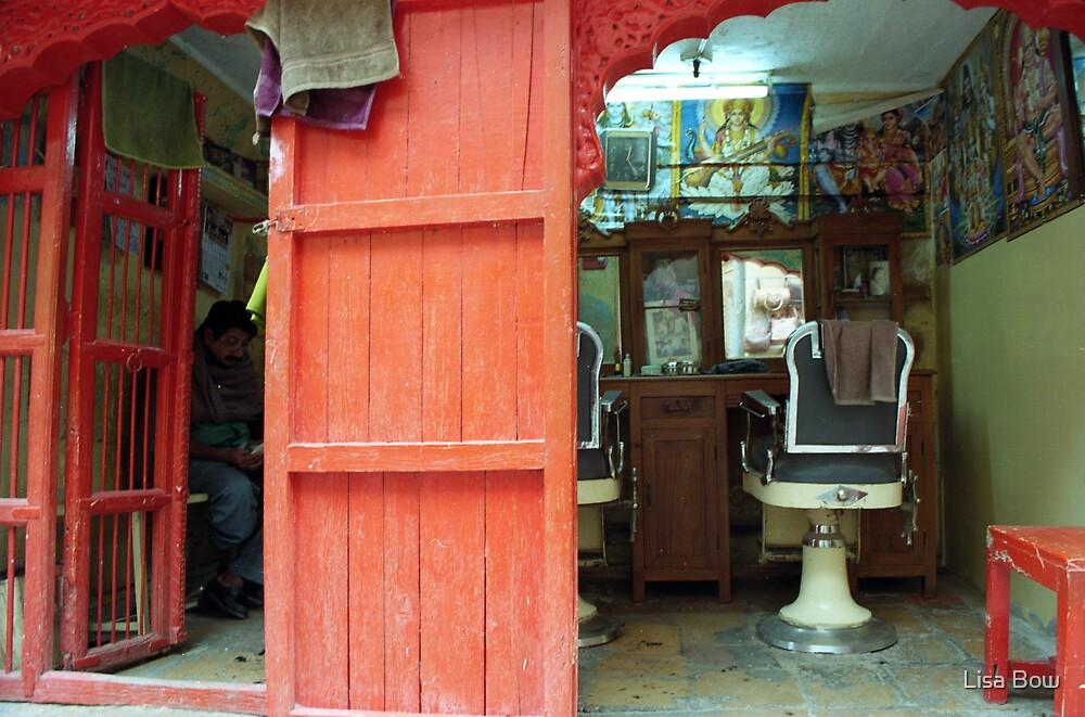 Barber waits by Lisa Bow