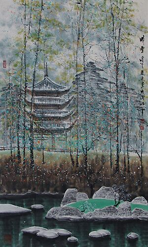 traditional Chinese painting by zuo leilei