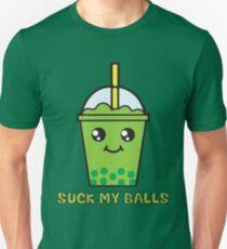 Suck My Balls - Funny Bubble Tea (Matcha Green Tea) T-Shirt