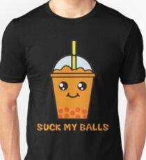 Suck My Balls - Funny Bubble Tea (Orange) T-Shirt