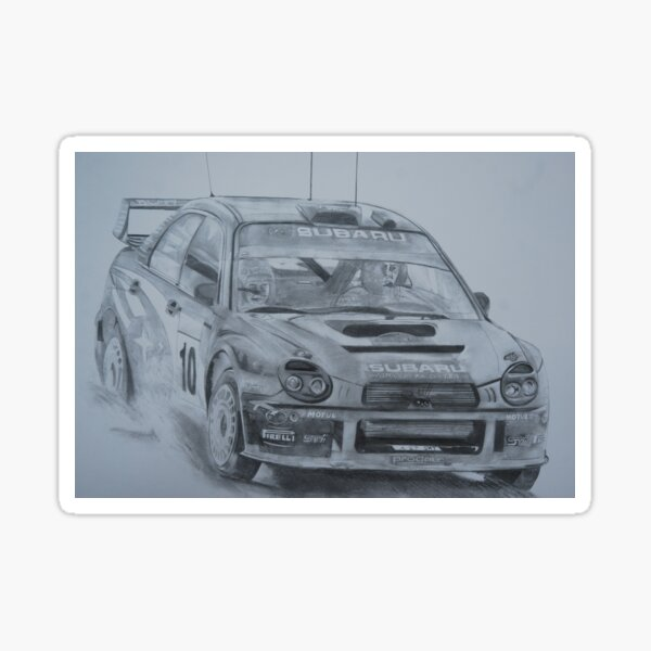 Subaru Impreza WRC 2002 Sticker