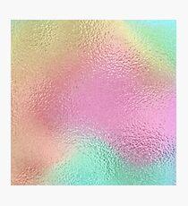 Iridescent Rainbow Metallic Texture Pink Green Orange Yellow Photographic Print