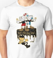 FIERY RIVALRY - BATIM and CUPHEAD  Unisex T-Shirt