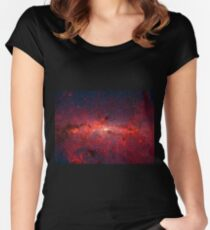 The Milky Way in Infrared Women's Fitted Scoop T-Shirt