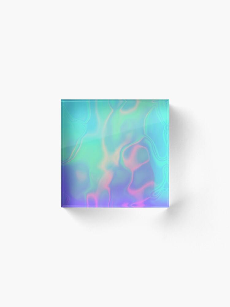 Alternate view of Rainbow Sea Holographic Iridescence Acrylic Block