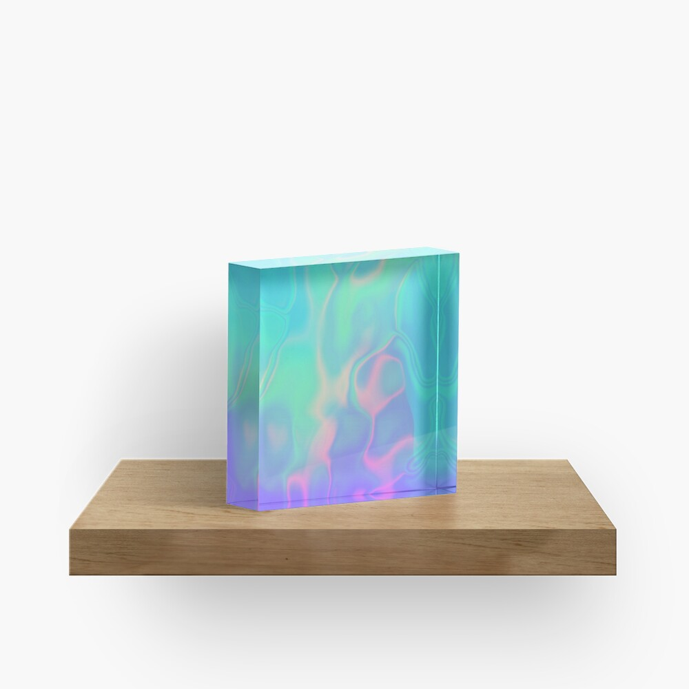 Rainbow Sea Holographic Iridescence Acrylic Block