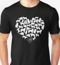 Great Pyrenees Heart T-shirt T-Shirt
