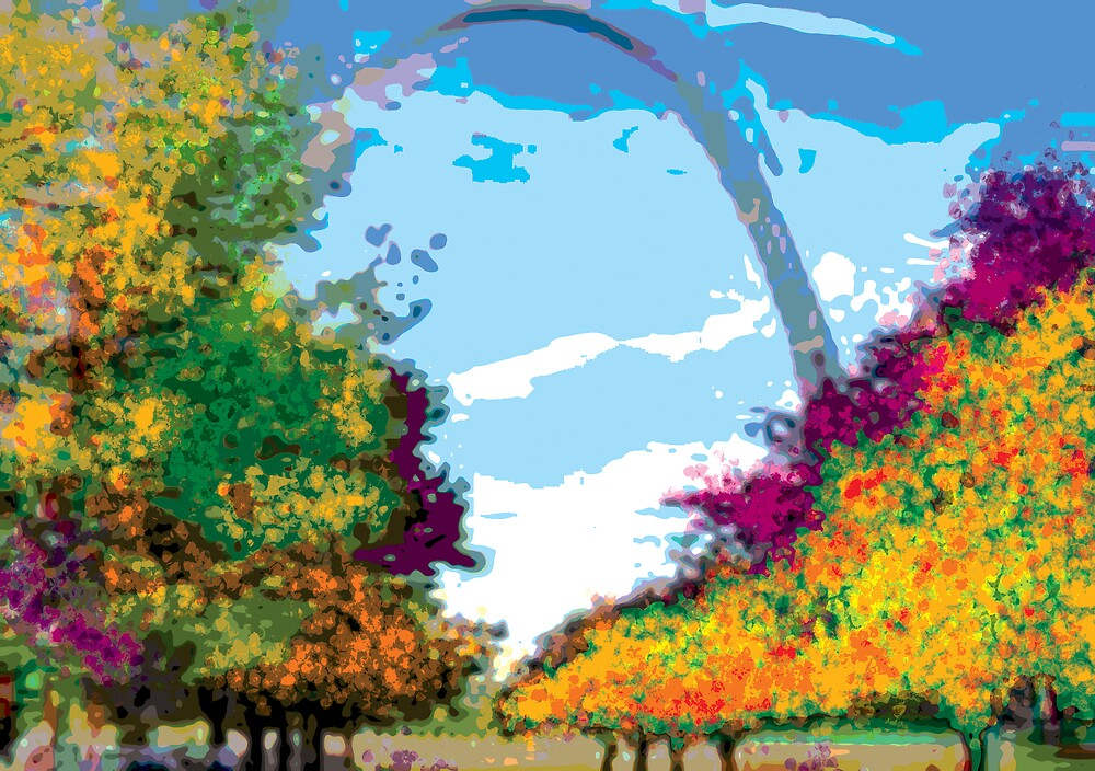 St. Louis Arch in Fall by kitkat54