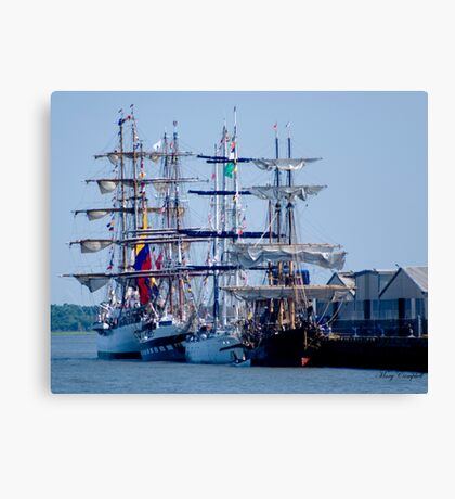 Tall Ships Home Again Canvas Print