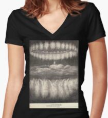 Gustave Dore or Doré  Dante Divine Comedy Paradise 016 Women's Fitted V-Neck T-Shirt