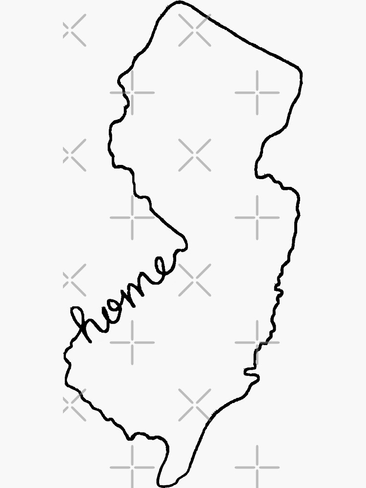 New Jersey Home State Outline by jamiemaher15