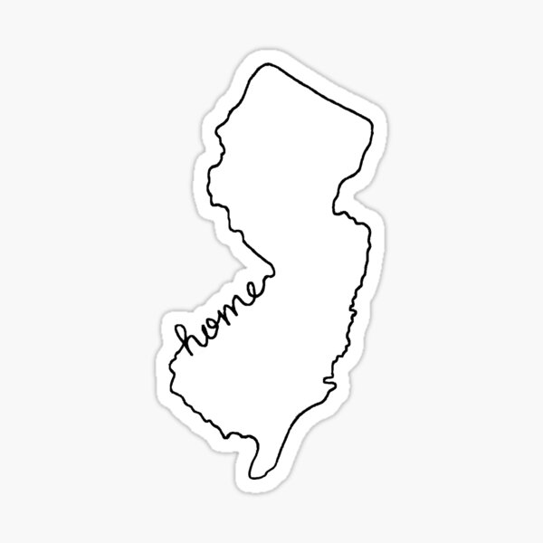 New Jersey Home State Outline Sticker