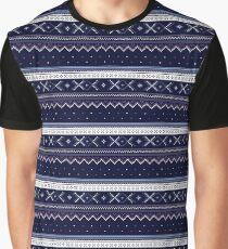 Scandinavian Blue Graphic T-Shirt