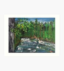 On the River Bank Art Print