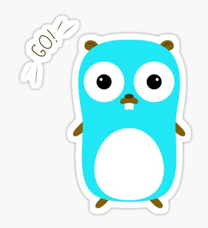 Go Golang Gopher character Sticker