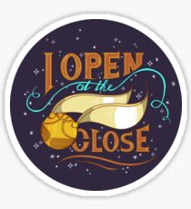 Harry Potter Golden Snitch - I Open at the Close Sticker