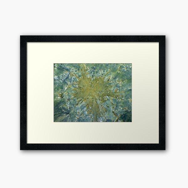 Starburst (Seraphinite) Framed Art Print