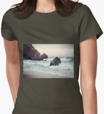 West Coast Beach Womens Fitted T-Shirt