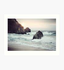 West Coast Beach Art Print