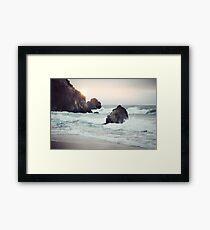 Lámina enmarcada Playa de la costa oeste