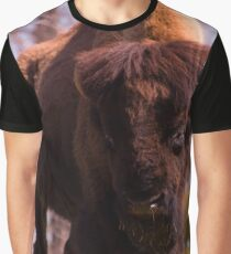 American Bison in a field Graphic T-Shirt
