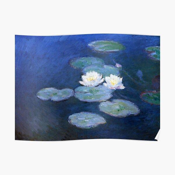 Two Water Lilies Monet Fine Art Poster