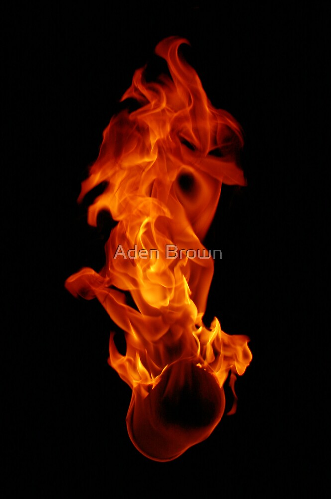 Figure in Flame by Aden Brown