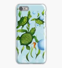 Three Little Turtles  iPhone Case/Skin