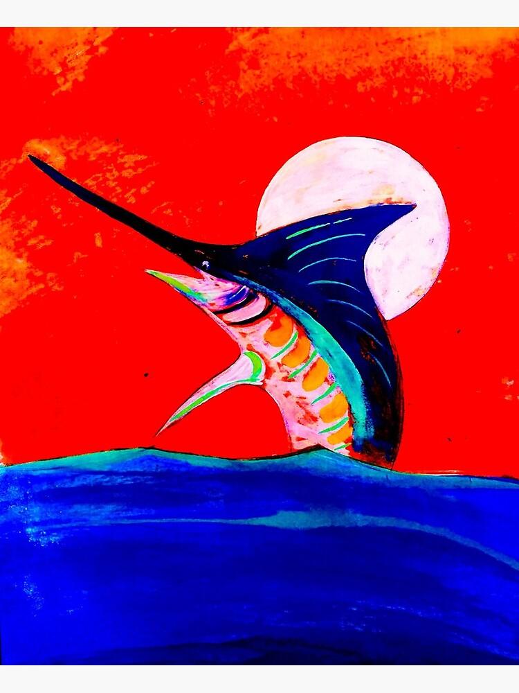 Moon and marlin by barryknauff