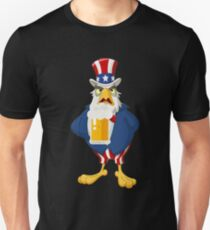 Patriotic American Eagle Beer Shirt Fourth of July Shirt Unisex T-Shirt